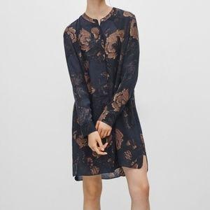 Wilfred Bossut Dress 100% Silk Aritzia Long sleeve